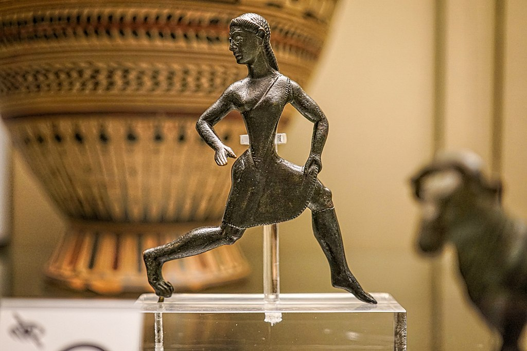 Bronze Statuette of Athletic Spartan Girl