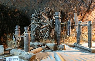 Spinning wheel - Spinning wheel Charkhu in Maymand, Kerman, Iran