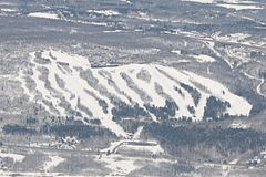 Aerial view of Spirit Mountain.