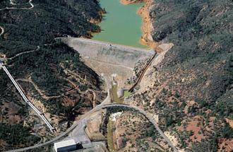 Spring Creek Dam - Image: Spring Creek Debris Dam