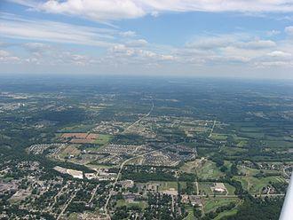 Springboro, Ohio - Lower Springboro from the air
