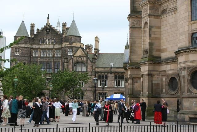 Square in front of the McEwan Hall on graduation day - geograph.org.uk - 866110