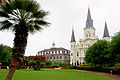 St. Louis Cathedral and Cabildo in New Orleans.JPG