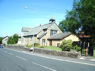 Civil parishes in Lancashire - Image: St Barnabas' Church, Darwen