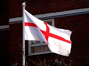 The flag of England is the St George cross.