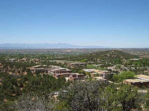 St. John's College (Annapolis/Santa Fe) - The Santa Fe campus of St. John's College, as seen from the slopes of Monte Luna