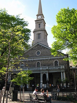 New Netherland - St. Mark's Church in-the-Bowery, site of Stuyvesant's grave