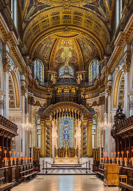High Altar of St Paul's Anglican Cathedral, London St Paul's Cathedral High Altar, London, UK - Diliff.jpg