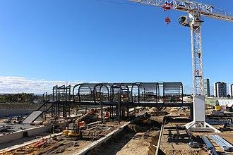 Perth Stadium railway station - Stadium railway station under construction, May 2016