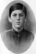 Young Stalin, circa 1894.