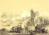 Stanislao Grimaldi Dal Poggetto - primo combattimento di Goito -litografia -ca.1860.JPG