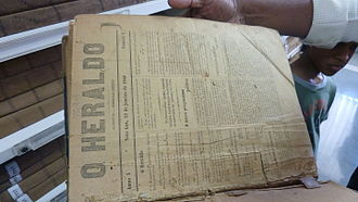 O Heraldo - Front page of the first issue of O Heraldo