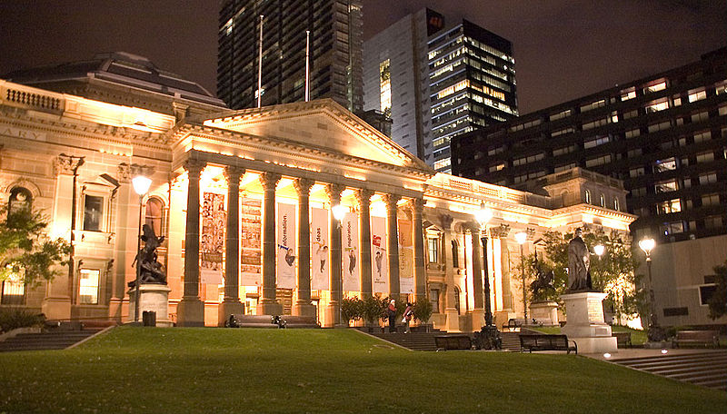 File:State Library at Night.jpg