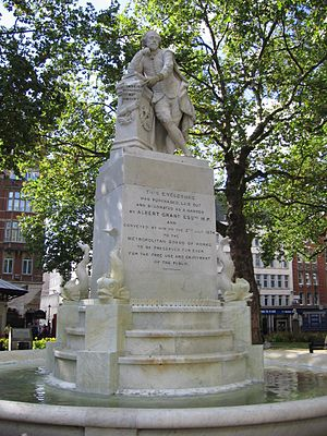Statue of William Shakespeare, Leicester Square - Image: Statue Of William Shakespeare in Leicester Square