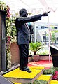 Statue of Dr. B. R. Ambedkar, in the premises of Dr. Babasaheb Ambedkar Open University, in Ahmedabad.jpg