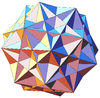 Stellation of rhombic triacontahedron 5 cubes.png