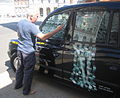 Stephen Farthing, RA prepares Chelsea Cab for 'Late at Tate (Britain)'.jpg