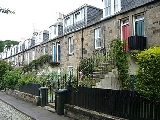 Colony houses - Colony houses on Collins Place, Stockbridge