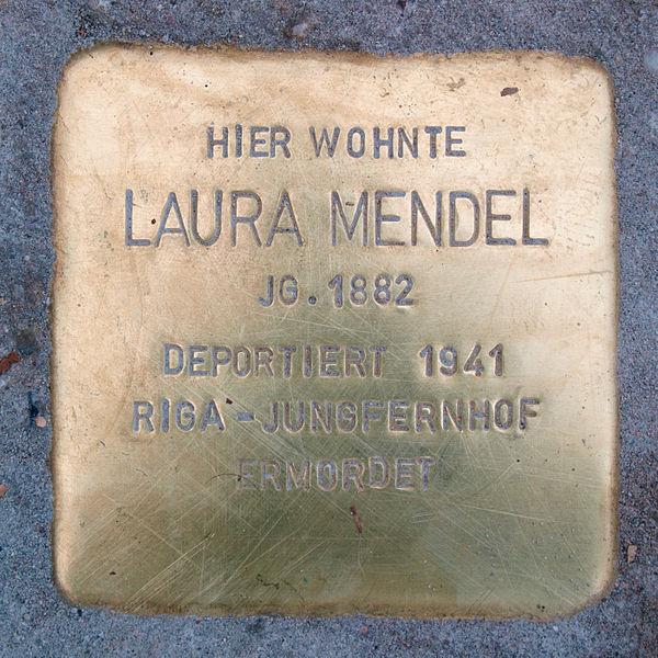 File:Stolperstein-Schwäbisch Gmünd-Laura Mendel.jpg