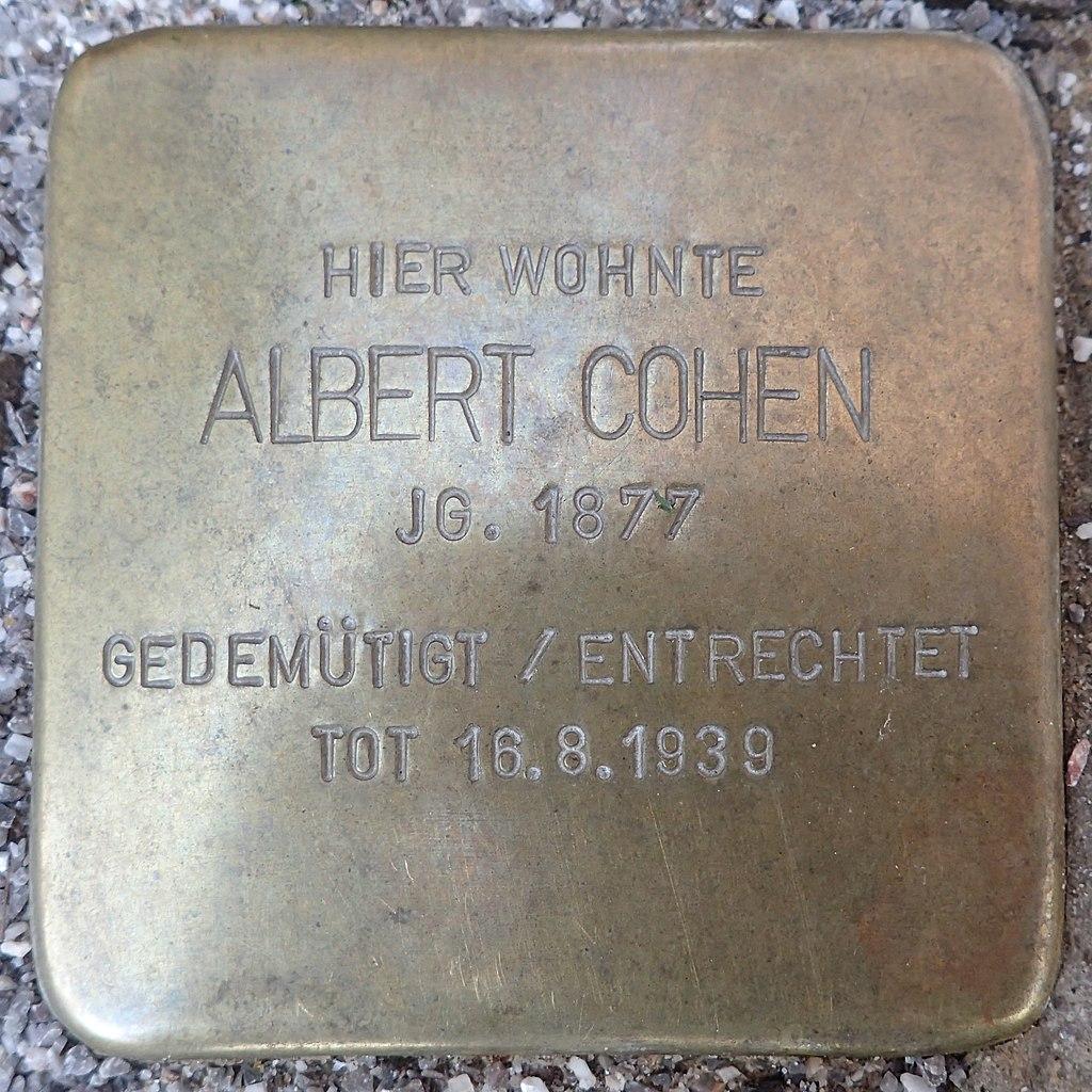 Stolperstein für Albert Cohen
