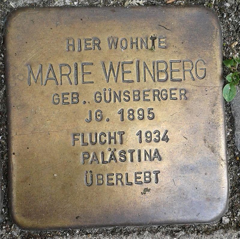 Stolperstein Emmerich Gasthausstraße 3 Marie Weinberg