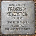 Stolperstein Franziska Meyerstein Jena 2014.jpg