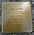 Stolperstein Neu-Ulm Arthur Strauß.jpg