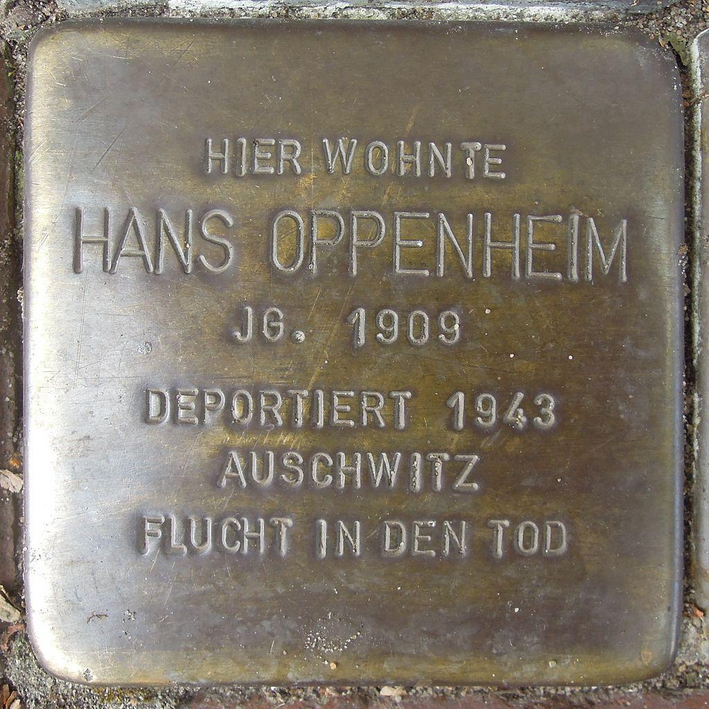 Stolperstein Petershagen Mindenerstraße 12 Hans Oppenheim