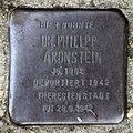 Stolperstein Solinger Str 7 (Moabi) Philipp Aronstein.jpg