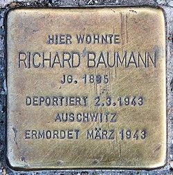 Photo of Richard Baumann brass plaque