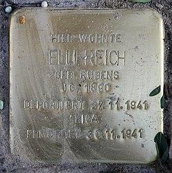 Photo of Elli Reich brass plaque