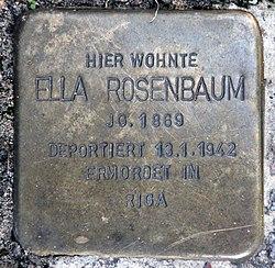 Photo of Ella Rosenbaum brass plaque
