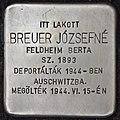 Stolperstein für Jozsefne Breuer (Nyíregyháza).jpg