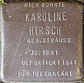 Stumbling stone for Karoline Hirsch (Im Dau 12)