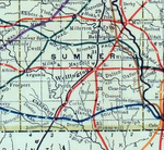 Stouffer's Railroad Map of Kansas 1915-1918 Sumner County.png