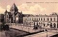 Strasbourg ancienne gare de la Compagnie de l'Est et Synagogue du quai Kléber vers 1900.jpg