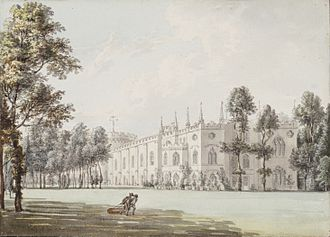 Strawberry Hill House - 18th century watercolour by Paul Sandby