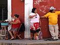 Street Scene with Trio - Valladolid - Yucatan - Mexico.jpg