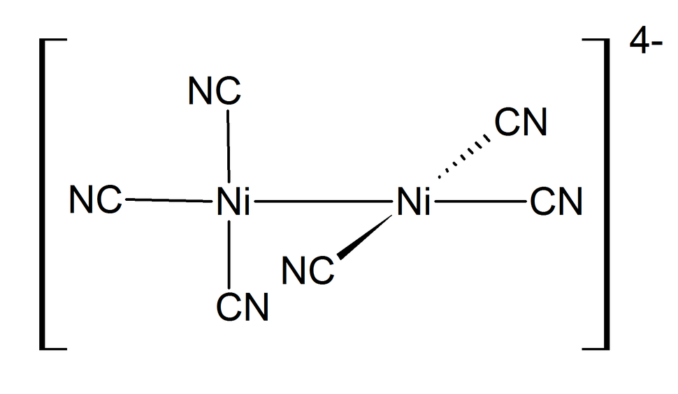 Structure of hexacyanodinickelate(I) ion