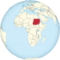 Sudan on the globe (Africa centered) (de-facto).svg