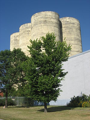 Urban neighbourhoods of Sudbury - The Flour Mill - an iconic landmark in Sudbury, Ontario