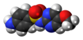 Sulfametoxydiazine molecule spacefill.png