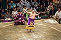 Sumo bow-twirling ceremony May 2014 002.jpg