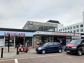 Sunderland station Tyne and Wear Metro and railway station