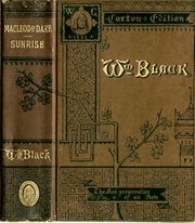 Cover of Macleod of Dare & Sunrise by William Black, from a John B. Alden 1883 publication in New York