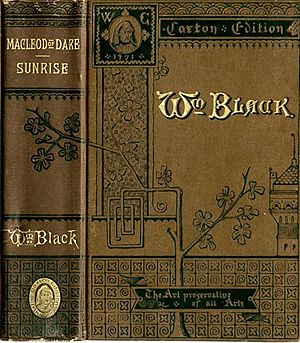 William Black (novelist) - Image: Sunrise by William Black Book Cover John B. Alden New York 1883 Project Gutenberg e Text 17308