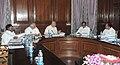 Sushilkumar Shinde presiding over the meeting of GoM for formation of Telangana, in New Delhi. The Union Finance Minister, Shri P. Chidambaram, the Union Minister for Rural Development, Shri Jairam Ramesh.jpg