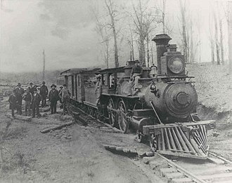 Greenville, South Carolina - The Greenville and Northern Railway in the 1890s which was converted into the Swamp Rabbit Trail in 2010.
