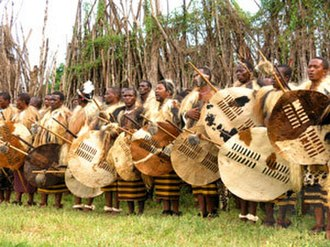 Swazi people - Swazi warriors at incwala