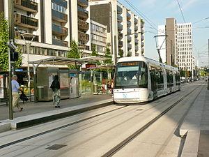 Île-de-France tramway Line 5 - Image: T5 Sarcelles Albert Camus
